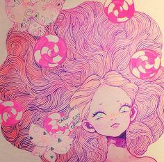 #eimi Pastels, Disney Characters, Fictional Characters, Illustrations, Disney Princess, Art, Art Background, Illustration, Kunst