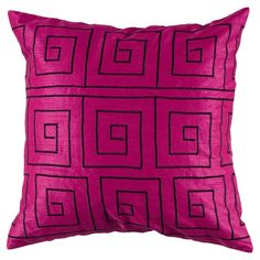 I pinned this Greek Key Pillow from the Colorwheel: Magenta, Marigold & Marine event at Joss and Main!