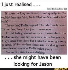After I read the heroes of Olympus I went back and read Percy Jackson and the Olympians and I found lots of hints about the heroes of Olympus Percy Jackson Memes, Percy Jackson Books, Percy Jackson Fandom, Magnus Chase, Solangelo, Percabeth, Jason Grace, Thalia Grace, Trials Of Apollo