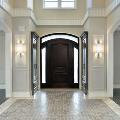 Estate Model Home, Richmond Hill Ontario traditional entry Ahhhh. Closets by the foyer! If we have enough room, bliss! Floor Design, Tile Design, House Design, Entry Tile, Entryway Flooring, Tile Entryway, Marble Foyer, Tile Flooring, Flooring Ideas
