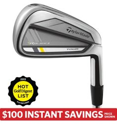 TaylorMade Men's RocketBladez Tour Irons - (Steel) 3-PW