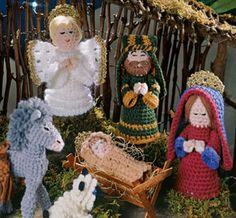 Knitting Pattern Christmas Crib Nativity Scene Booklet : 1000+ images about crochet navidad on Pinterest Nativity, Saints and Nativi...