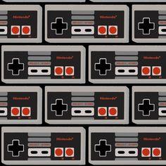 Classic Nintendo Controller Fabric $18/yrd