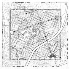 Oswald Mathias Ungers, Project for a City Park, Salemi, Sicily, 1985