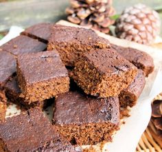 A Bonfire Treat! Sticky Yorkshire Ginger Parkin with Quince and Pomegranate Compote