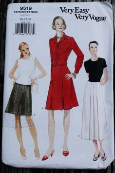 Very Easy Vogue 9519 1990s 90s A line Midi by EleanorMeriwether