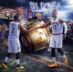 2016 NBA FINALS Bron and Kyrie