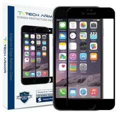 Tech Armor Apple iPhone 6 Premium Edge to Edge HD Clear Ballistic Glass Screen Protector (Black) - Protect Your Screen from Scratches and Drops http://zingxoom.com/d/cwHHJ7Nj