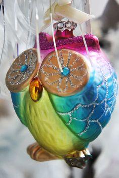 ugle kugle, owl decoration, lisbeth dahl julepynt 2012