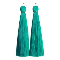 Turquoise Classic Tassel Earring by jenny jenny/ Modern take on a classic down to the bright turquoise.