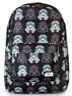 Star Wars Darth/Storm Sugar Skull Backpack by Loungefly (Black) #InkedShop #starwars #vader #darth #darthvader #sugarskulls #sugarskull #stormtrooper #bookbag #backpack #b2s #geekchic #nerdy #cool