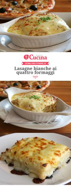 Lasagne bianche ai quattro formaggi