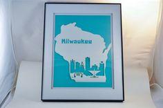 Mke 8.5 x 11 Paper Skyline Decor Milwaukee by SimplistiCreations