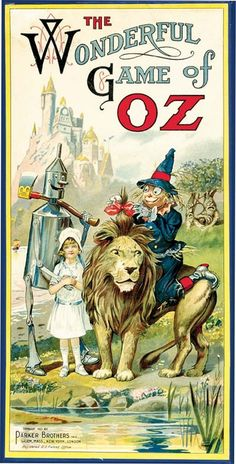 Wizard of Oz board game. From a list of 5 collectible Wizard of Oz items in celebration of L. Frank Baum's birthday. http://www.bookpatrol.net/2013/05/happy-birthday-l-frank-baum.html#.UZPkUbWSoy4