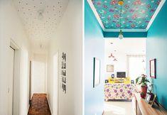 Decorando o corredor - teto pintado