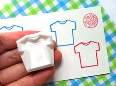 tshirts rubber stamps  hand carved stamp by talktothesun, $7.00
