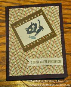 The Nerdy Card Maker - Stampin' Up! You Little Furball & On Film Framelites