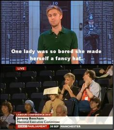 Good News. lol what an um fancy um hat British Memes, British Comedy, Funny Quotes, Funny Memes, Hilarious, Mock The Week, Russell Howard, Stand Up Comedy, Smiles And Laughs