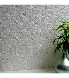 Spencer Paintable Supaglypta Wallpaper