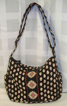 VERA BRADLEY CLASSIC BLACK W REDISH/CRANBERRY & WHITE PAISLEY FASHIONABLE PURSE ON THE GO Listed on eBay starting at $14.98