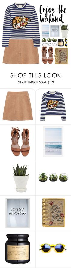 """""""Untitled #216"""" by itzzbella ❤ liked on Polyvore featuring See by Chloé, Gucci, GET LOST, Pottery Barn, Chive, PTM Images and Judith Leiber"""