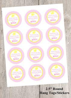 Pink Lemonade Printable Favor Tags, Lemonade Labels, Stickers, Sweet Pink Lemonade Hang Tags on Etsy, $6.00