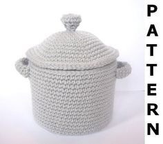 Pots and Pans Crochet Pattern - finished items made from pattern may be sold. $5.00, via Etsy.