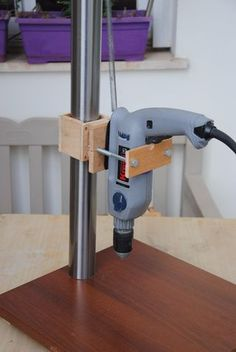 I've come to the point where can't build more advanced woodworking projects, due to the lack of a drill press*. I have a list of tons of projects that I want to...