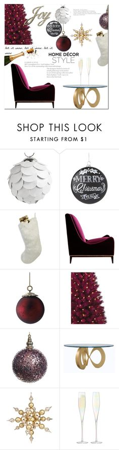 """Holiday Joy"" by elleylove ❤ liked on Polyvore featuring interior, interiors, interior design, home, home decor, interior decorating, Nordal, Home Decorators Collection, Helen Moore and Frontgate"