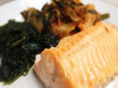 Salmon, Kimchi, and Spinach: 6/5/13