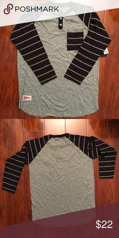 MATIX Mix Pocket Henley Longsleeve Shirt- SMALL Matix. Brand New. Stripe sleeves. Marle body. Small. Brand NEW Matix Clothing Company Shirts Tees - Long Sleeve