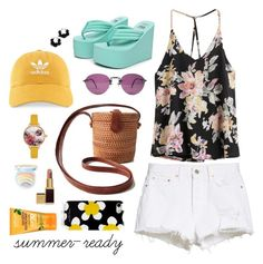 """""""summer-ready"""" by mitchteryosa on Polyvore featuring GRLFRND, adidas, Oscar de la Renta, Ted Baker, Tom Ford, Too Faced Cosmetics, Marc Jacobs and Alba Botanica"""