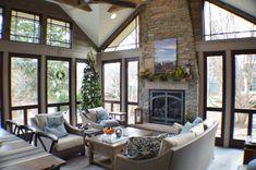 Hearth room, sunroom, living room addition in Arlington Heights, IL