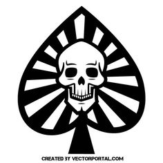 Skull symbol vector graphics.