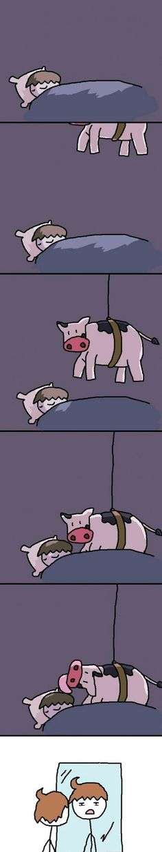 Cow licks