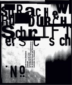 Poster for the opening of the David Carson Workshop in Düsseldorf, 1996.br /br /