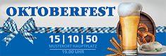 Werbebanner in top Qualität mit unserem Designtool online drucken #bier #beer #brezel #weißwurst #oktoberfest #werbebanner #blau