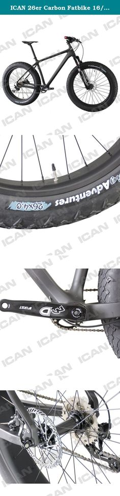 ICAN 26er Carbon Fatbike 16/18/20 Inch Shimano M610 with RockShox Bluto Fork. ICAN fat bike Frameset:Full Carbon Fiber T700 SN01 Weave: UD Matte Available Sizes: 15/17/19 Inch BB Type : BSA Rear axle Spacing: 190mm Fork: RockShox Bluto 150*15 Thru Axle Seat post Size : 31.6mm Seat clamp Size : 34.9mm Headset:H373, IS41/IS52 Wheelset:Carbon Clincher Tubeless Ready 90mm Width: 90mm Depth: 20mm Hub: Powerway M74 Hub Front:15*150mm 2 sealed bearings Rear: 15*197mm 4 sealed bearings Shimano…