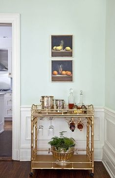 The @SocietySocial Sedgewick faux bamboo bar cart is vintage inspired, yet modern and glam! #barcarts www.shopsocietysocial.com Credits: @Beka Rendell @Courtney Apple