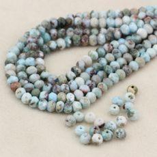 Pastelowy błękit naturalnego larimaru, którego pokłady są jedynie na Karaibach. Kamień stosunkowo niedawno odkryty, szybko przybywa mu wielbicieli dzięki kojącej, błękitnej, niespotykanej barwie. Fasetowana oponka - 1 szt Mineral Stone, Minerals, Jewlery, Beaded Necklace, Stones, Jewels, Beaded Collar, Rocks, Pearl Necklace