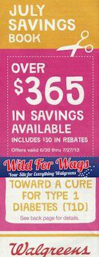 WALGREENS $$ July 2013 Coupon Booklet!
