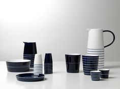 Design House Stockholm kills it with their cobalt and white ceramic collection.