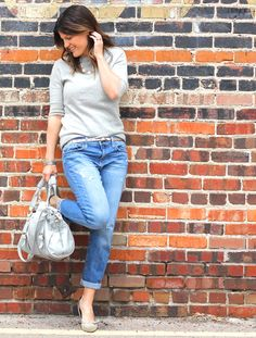 Marionberry Style: Distressed Boyfriend Jeans + Mays Trend of the Month