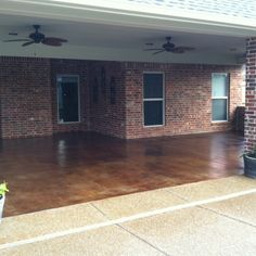 Stained concrete porch!