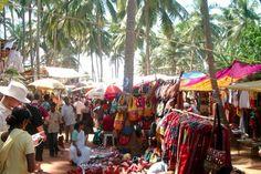 Anjuna Flea Market: Monteiro Vaddo, Anjuna, Goa  India