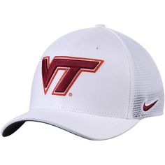 3e172b3a324 Virginia Tech Hokies Nike AeroBill Classic 99 Mesh Back Performance Flex Hat  - White