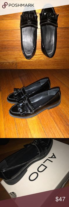 Aldo loafers Patent leather loafers, worn a couple of times. Very comfortable. Easy to style Aldo Shoes Flats & Loafers