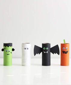 Fun Halloween Crafts for Toddlers   Cardboard Halloween Characters #halloweencrafts