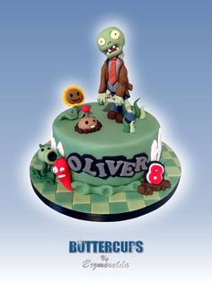 Plants Vs Zombies cake - Made By Buttercups By Bezmerelda