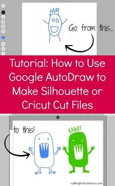 How to Make Cut Files For Silhouette Cameo or Cricut Explore with Google AutoDraw - by cuttingforbusiness.com